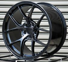 18X9.5 +38 ROTA KB-F 5X108 HYPER BLACK WHEELS FITS FORD FOCUS S SE ST SEL STANCE