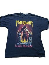 More details for manowar louder than hell vintage rock metal tshirt awesome backprint