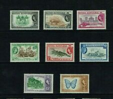 British Honduras: 1953, Queen Elizabeth definitive, short set to 25c, Mint