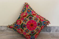 Pom Pom Vintage Home Decor Pillow Case Suzani Embroidered Cushion Cover KURDFB12