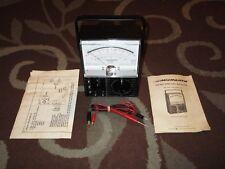 Vintage Micronta Multimeter Model 22-207 w/ Leads & Manual *RARE* AS IS