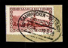 """SARRE / SAAR / SAARGEBIET 1928 """"SAARBRÜCKEN-METTLACH Z.554"""" Yv.113 Mi.114"""