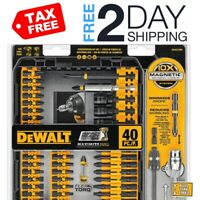 Screw Driving Set Dewalt Tool 10x Magnetic Screws Lock System 40 Piece Tools Kit