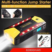 82800mAh 600A Pack Car Jump Start Emergency Charger Booster Power Bank Battery A