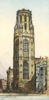 Edward Sharland (1884-1967) - Early 20th Century Etching, Wills Memorial Tower