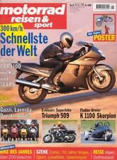 MRS9608 + Test HONDA CBR 1100 XX Super Blackbird + motorrad reisen & sport 8/96