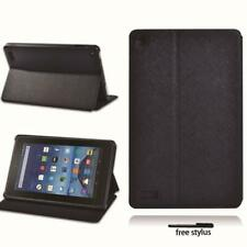 Black Tablet Leather Stand Cover Case for Amazon Fire 7/HD 8/ HD 10 with alexa