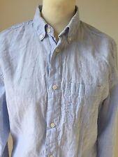Bruun & Stengade Size S Men's Slim Fit Striped Button Down Shirt