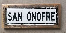 San Onofre California Beach Surf Surfing Surfboard Vintage Framed Street Sign