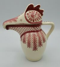 New listing Rare Htf Hand Painted Schwaz- Austria Ceramic Bird Pitcher Nice