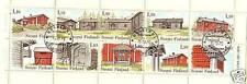 Echte gestempelte Briefmarken aus Europa mit Architektur-Motiv