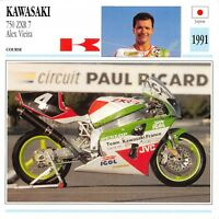 Fiche Photo Moto Japon Japan KAWASAKI 750 ZXR 7 1991 Edit Edito Service