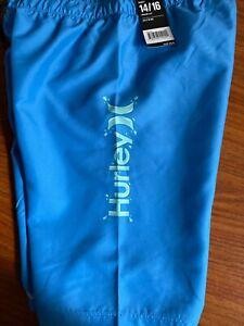 NWT Boys Hurley Board Swim Shorts Size 14/16
