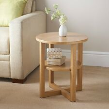 Small End Table Round Lounge Home Coffee Magazines Books Wood Side Furniture
