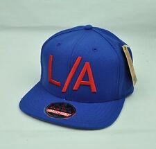 American Needle Los Angeles Blue Snapback Flat Bill Solid Color Original