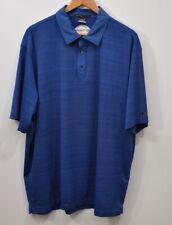 Nike Size XL Tiger Woods Chevron Challenge Golf Polo Shirt Blue Men's Dri-fit