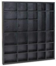 Setzkasten Schwarz Holzkasten Spielzeug Aufbewahrung Sammlerkasten Sammelfiguren