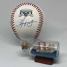 Chipper Jones signed Rawlings Turner Field Braves Logo Baseball JSA HOF A471