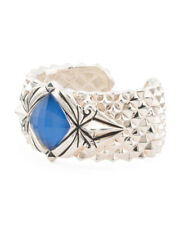 NWT STEPHEN WEBSTER Sterling Silver Superstud Blue Agate Doublet Cuff Bracelet
