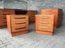 Pair Of G PLAN Bedside Cabinets, 3 Drawer, FRESCO, Teak, Mid Century, 1960s