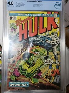 INCREDIBLE HULK #180 CBCS 4.0 1st Appearance WOLVERINE