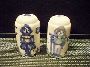 M.A. HADLEY SALT AND PEPPER SHAKERS FARMER AND WIFE