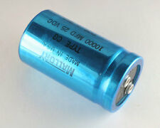 New 2pcs. 10000mfd 25VDC Large Can Computer Grade Capacitor 10000uF 25V