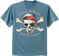 The beatings will continue until morale improves funny pirate t-shirt mens tee