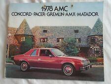 AMC range brochure 1978 USA market