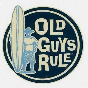 Aufkleber Old Guys Rule Surfers Decal Wellenreiten Hawaii Californien Florida