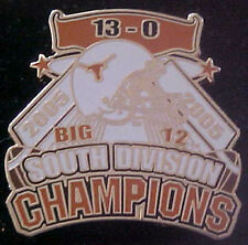 TEXAS LONGHORNS 2005 BIG 12 SOUTH CHAMPIONS WILLABEE & WARD COMM SERIES PIN