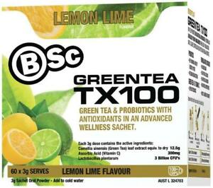 BSc BODY SCIENCE TX100 LEMON LIME MIX GREEN TEA PROBIOTIC 30 SERVES
