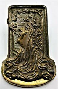 Vintage Brass Deco Image Desk Top/Hanging, Paper/Bills Clip