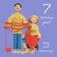 Wedding Anniversary Card 7th Seventh 7 Years Wool One Lump Or Two Funny Quality