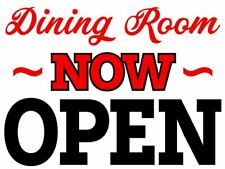 Restaurant Dining Room Now Open - Coroplast Entry Yard Doorway Sign