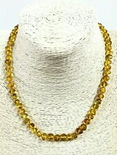 Amber NECKLACE Natural Baltic Amber Polished Yellow Honey Beads Knotted 10g 8206