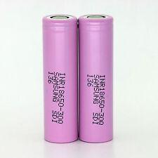 2PCS Samsung INR18650-30Q 3.7v 3000mAh Li-Ion 20A high drain cigarette Battery
