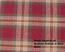 USA NEW Longaberger MEDIUM OVAL WASTE Basket LINER in ORCHARD PARK PLAID Fabric