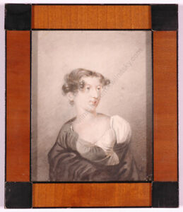 """""""Portrait of a Young Woman"""", Russian Miniature Painting, ca.1810 (m)"""