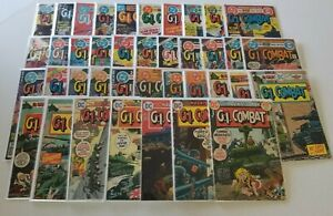Lot of 39 G.I. Combat Comic Books DC Vintage War GI Soldier Army Collection