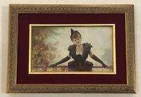 1880's Art Nouveau , La Belle Époque , Beautiful Woman In Black