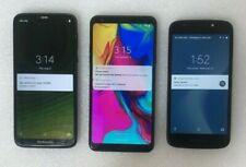 Three Lg/Moto Smartphones (Xt1921-3, Lm-Q720, Xt1921-2) - Locked To Cricket