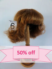 "DISCOUNT -50% - Human Hair DOLL WIG size 10.9 "" (27.5cm). Short red-brown hair."