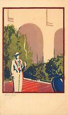Sheehan Original Serigraph Postcard; Don Jose, View of Santa Barbara CA Unposted