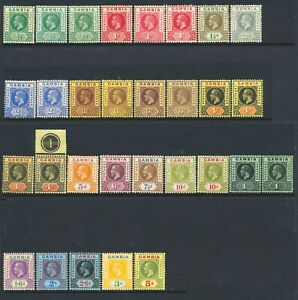 Gambia 1912-22 ½d to 5/- Mint LH SG 86-102 Cat £300