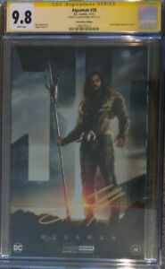 Aquaman #28 foil photo cover variant__CGC 9.8 SS__Signed by Jason Momoa