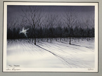 SHADOWS Watercolor 16x20 Matted Signed Print by Tom Draper, Limited Edition