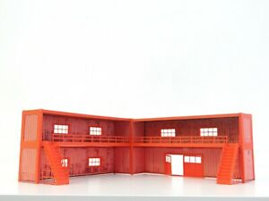 Diorama Parts 1:43 Two Floor Containers Garage For Photographing Car Models