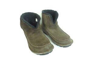 Crocs Men's Crocassin Boot Espresso Boot 11125 Suede Faux Fur Size US 12 [A63]