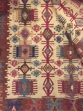 Long Woven Cotton Kilim Rug/Runner